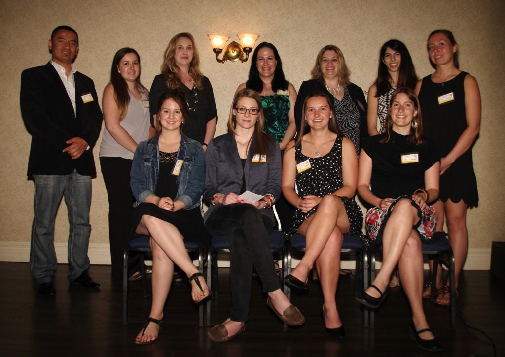 Group photo of Lampe award winers May 2014
